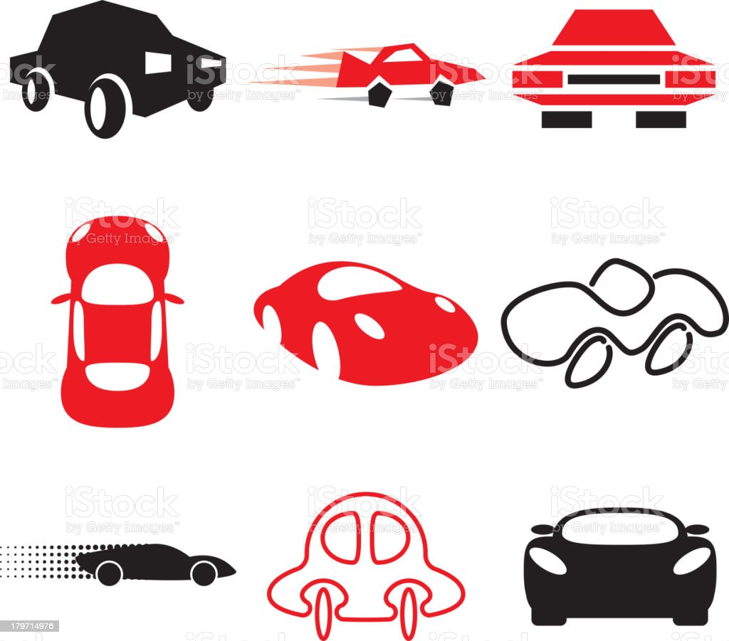 auto and car icons set royalty-free stock vector art