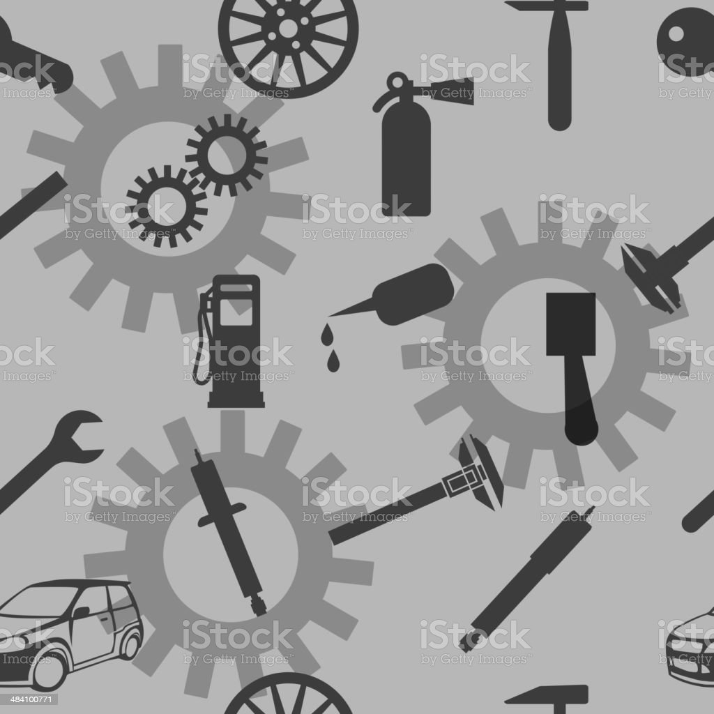 Auto Car Repair Service Icon Symbol. royalty-free stock vector art