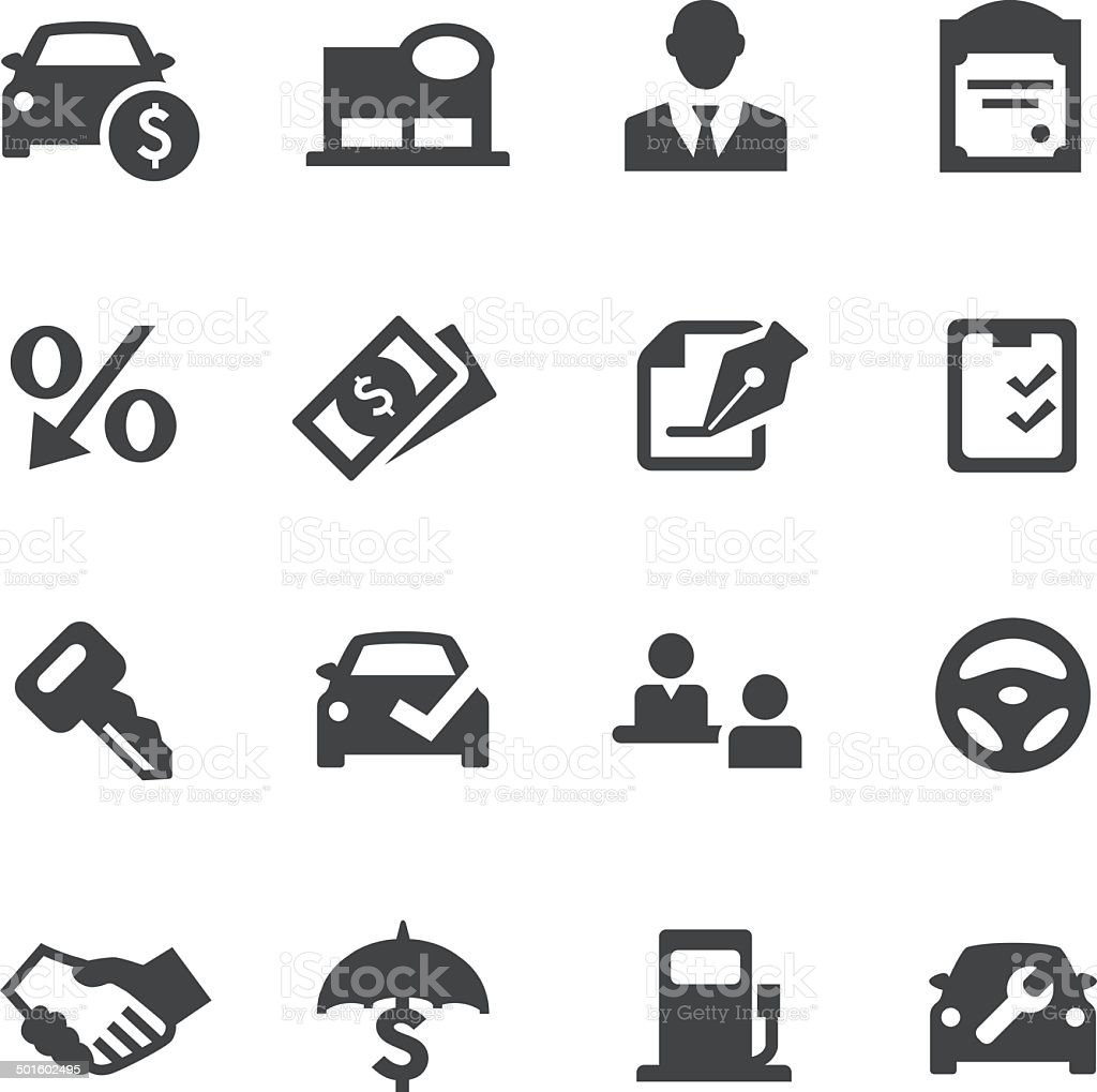 Auto Dealership Icons - Acme Series vector art illustration