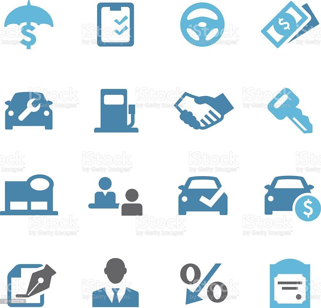 Auto Dealership Icons - Conc Series vector art illustration