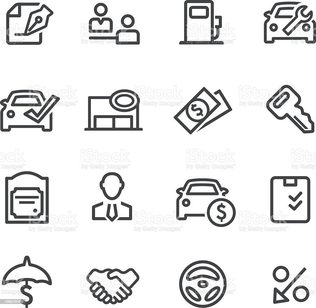 Auto Dealership Icons - Line Series vector art illustration