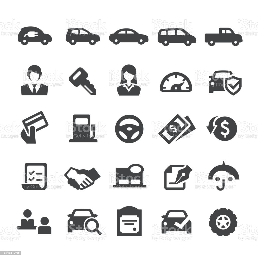 Auto Dealership Icons - Smart Series vector art illustration
