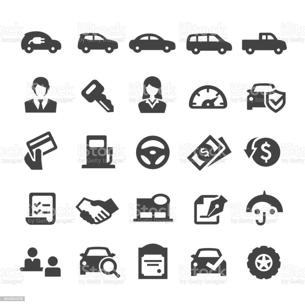 Auto Dealership Icons - Smart Series vector art illustration