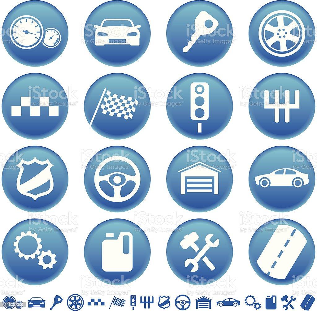 Auto icons stock vecteur libres de droits libre de droits