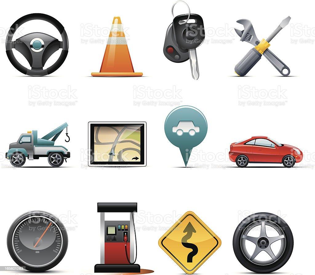 Auto Icons royalty-free stock vector art