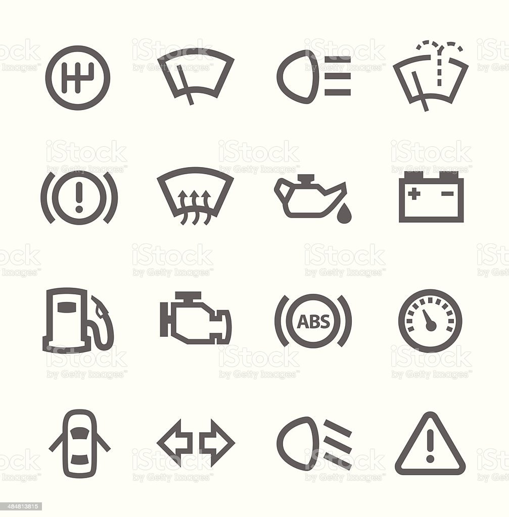 Auto icons vector art illustration