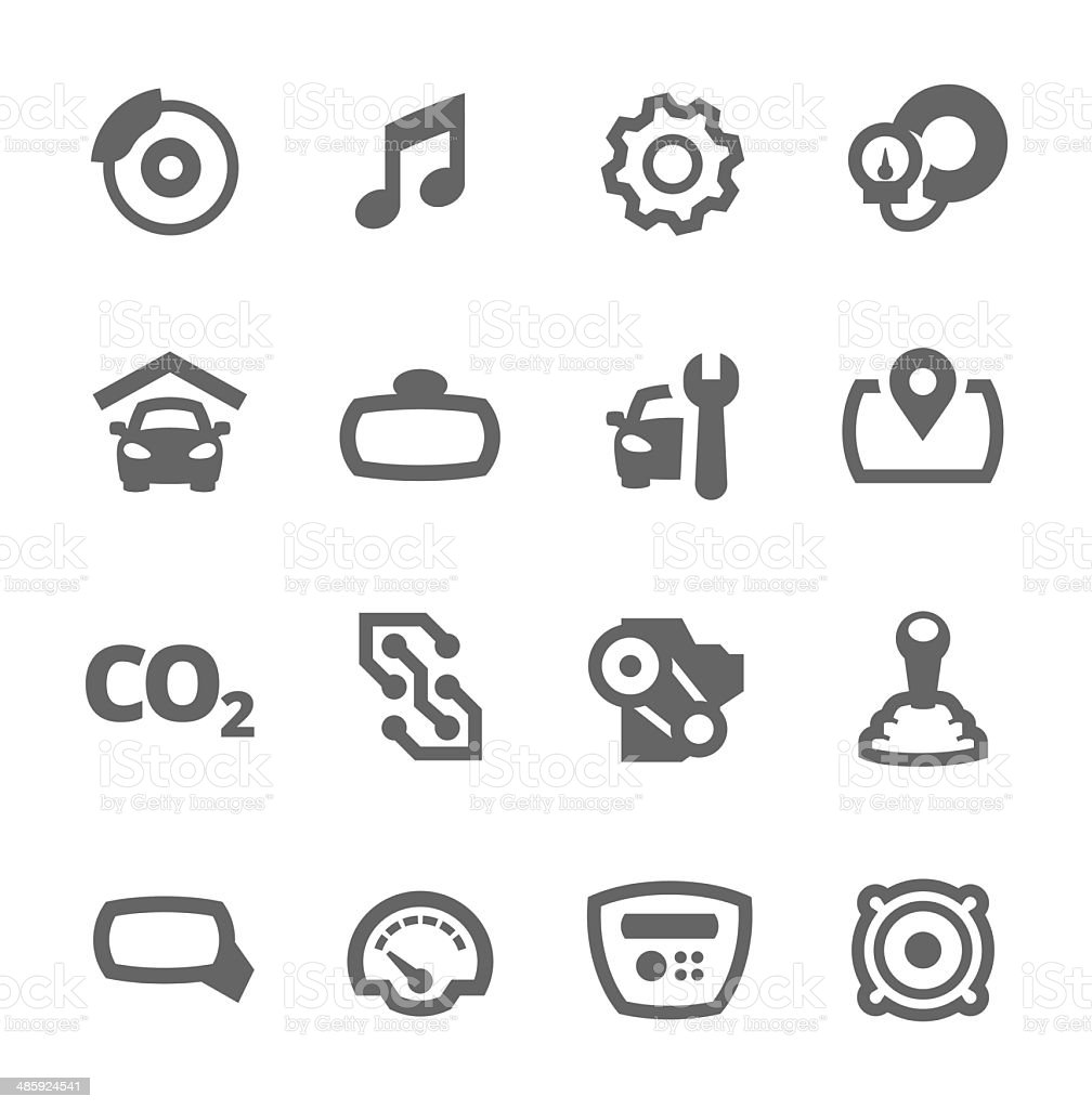 Auto icons vector art illustration