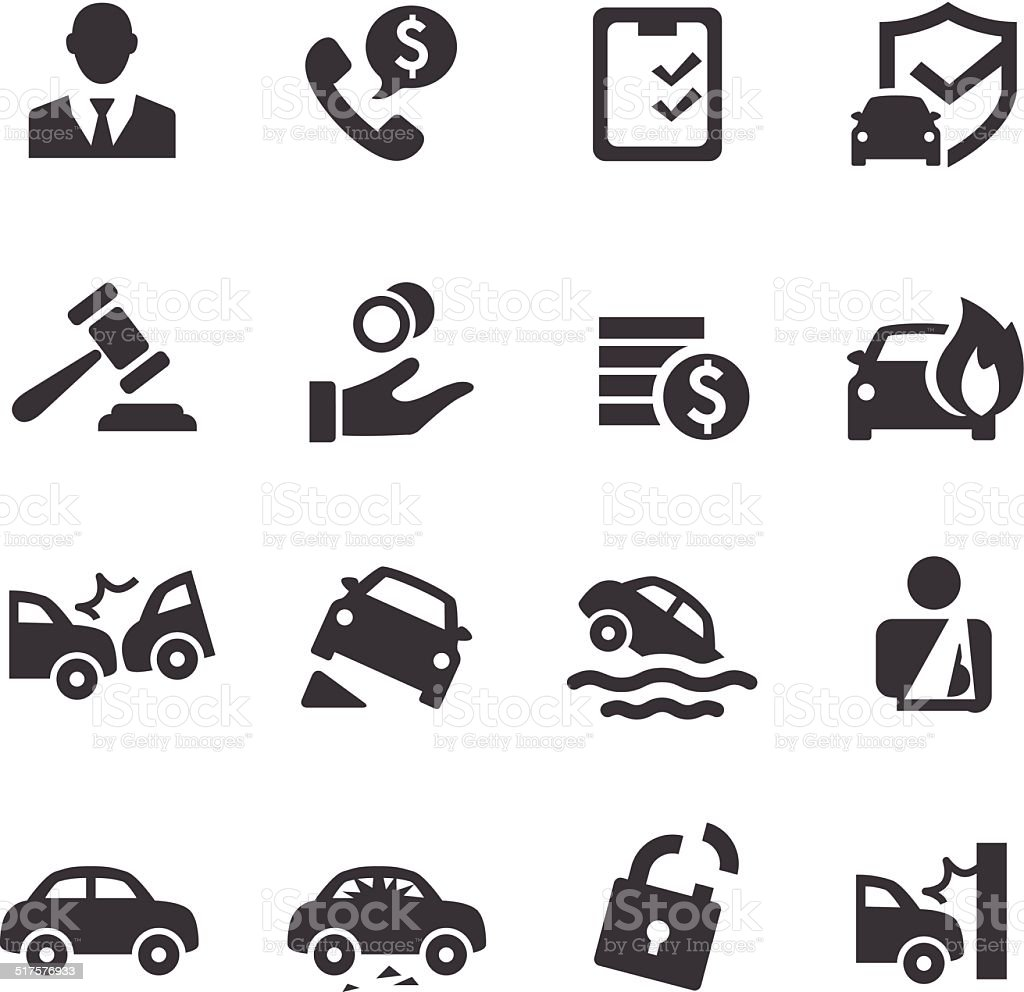 Auto Insurance Icons - Acme Series vector art illustration