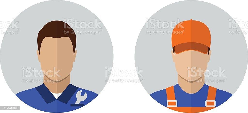 Auto mechanic icons vector art illustration