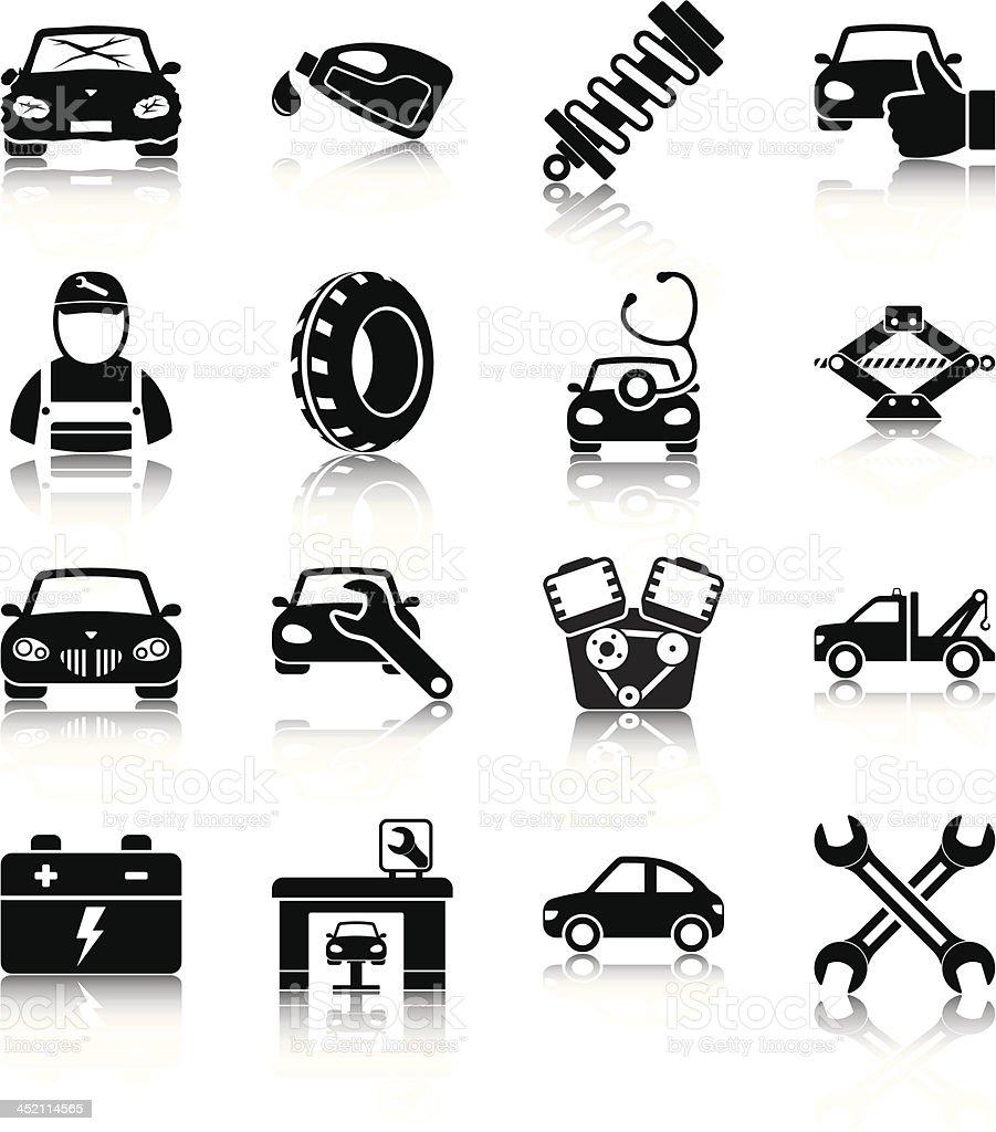 Auto mechanic vector art illustration