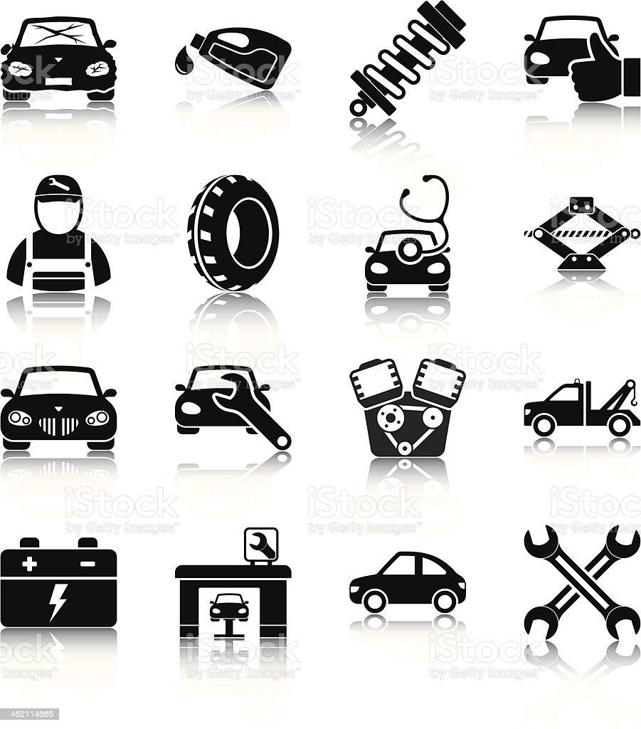 Auto mechanic vector art illustration