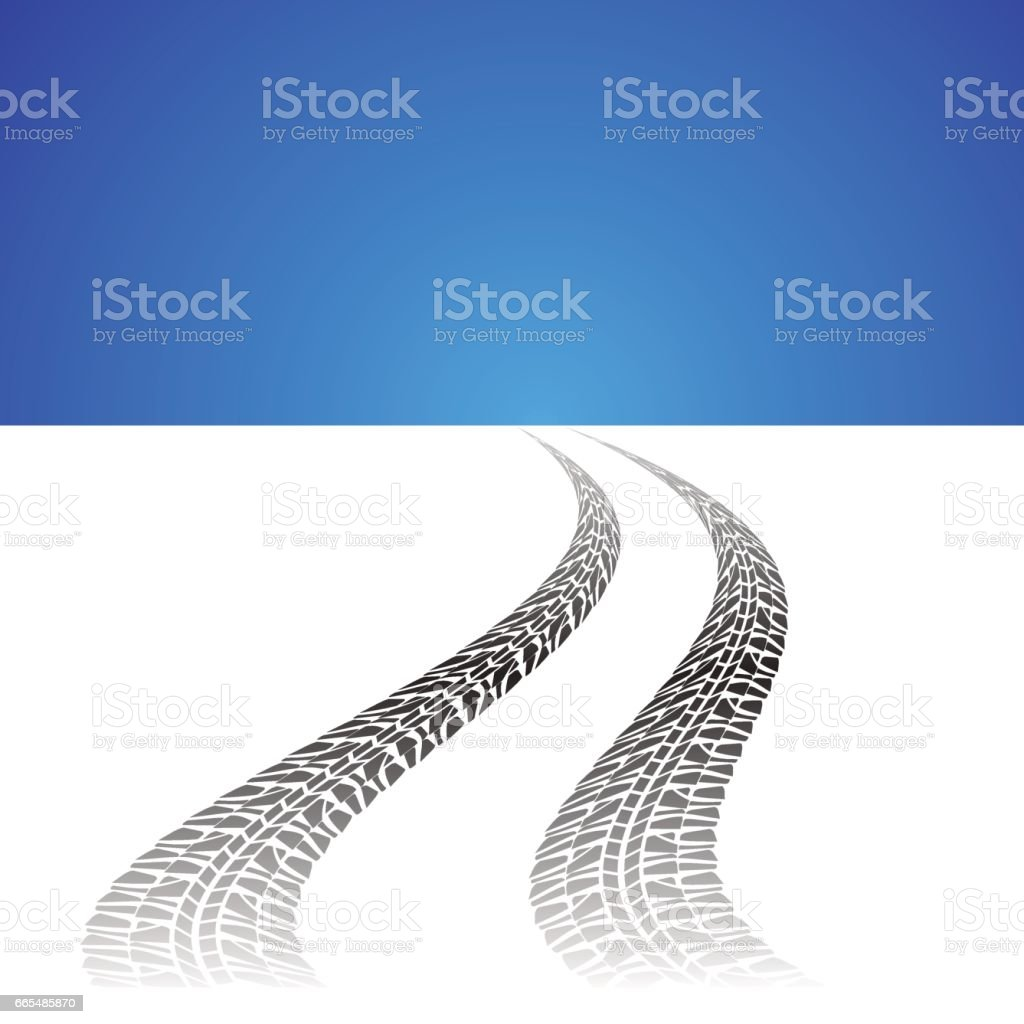 auto prints on white background vector art illustration
