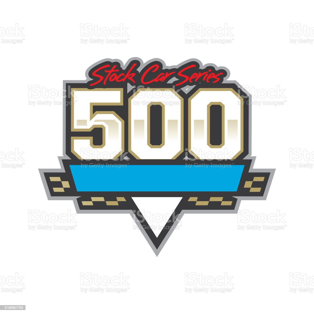 Auto Racing 500 Logo vector art illustration