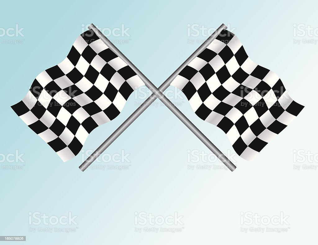 Auto Racing Flags vector art illustration