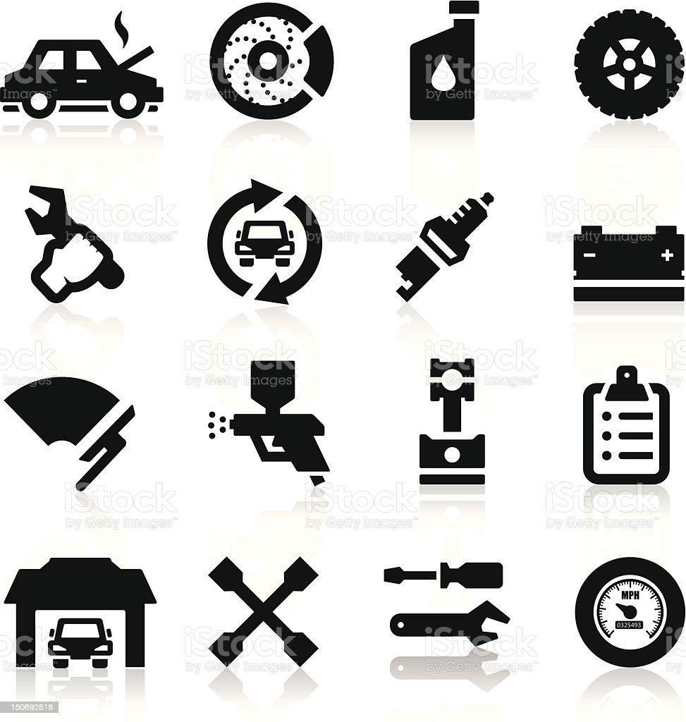 Auto repair Icons royalty-free stock vector art