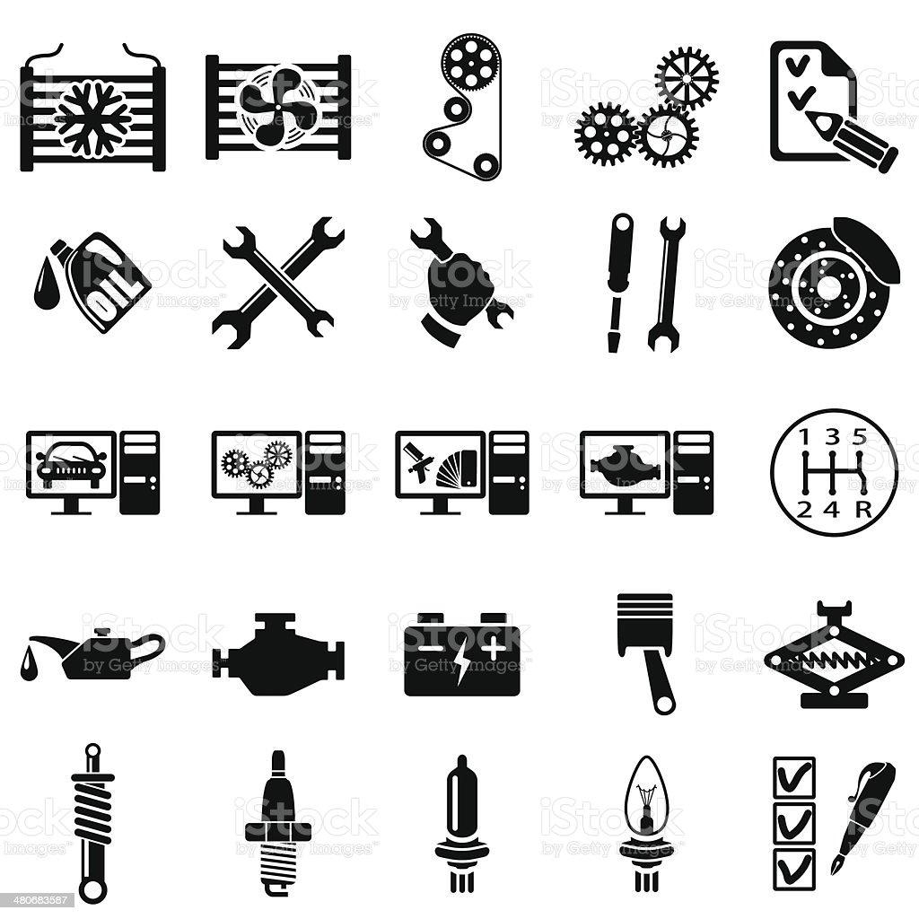 Auto repair Icons vector art illustration