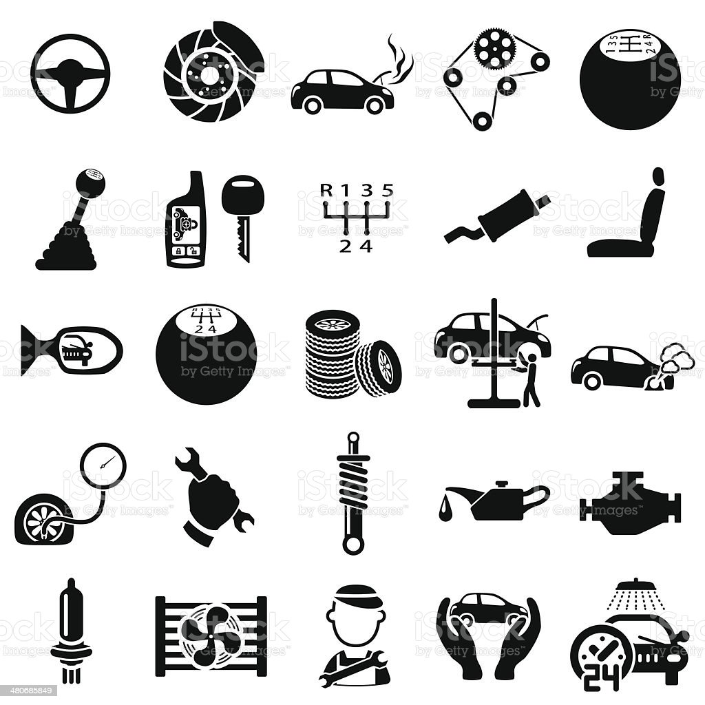 Auto repair Icons vector art illustration