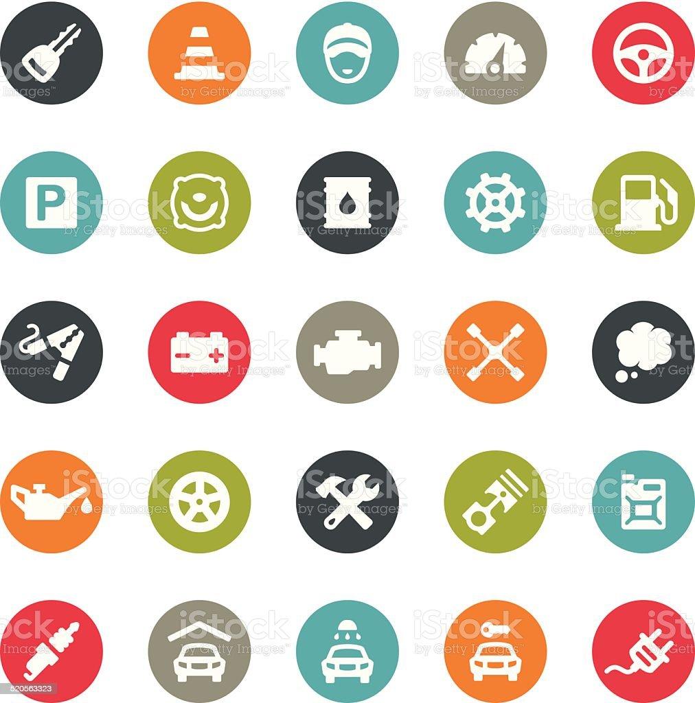 Auto Repair Shop icons / Ringico series vector art illustration
