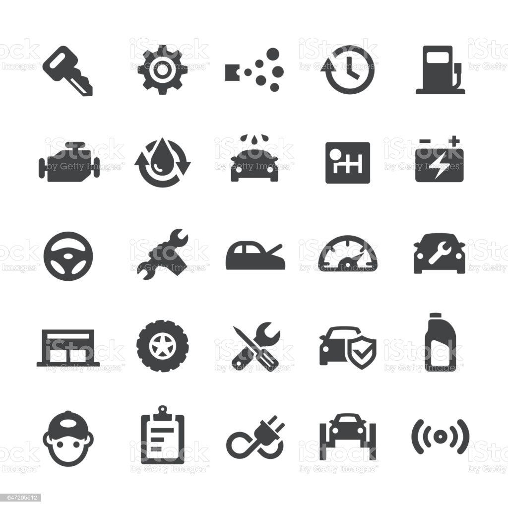 Auto Repair Shop Icons - Smart Series vector art illustration