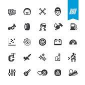 Auto Repair Shop vector icons