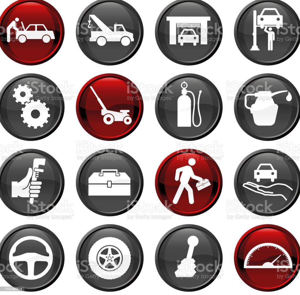auto repair sixteen icon set royalty-free stock vector art