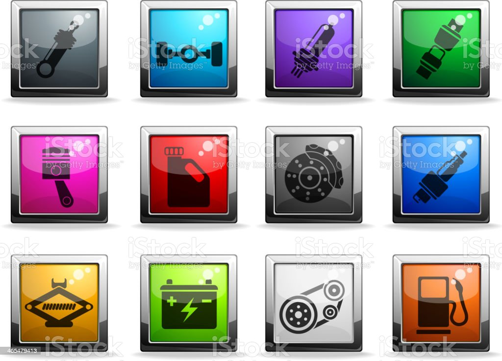 Auto Service Icons royalty-free stock vector art