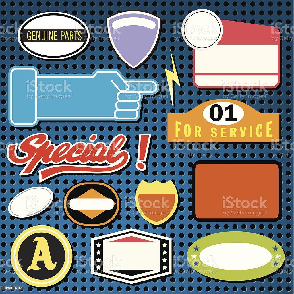 Auto Stickers vector art illustration