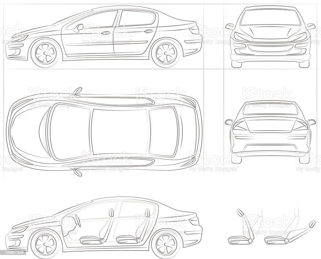 Auto vector art illustration