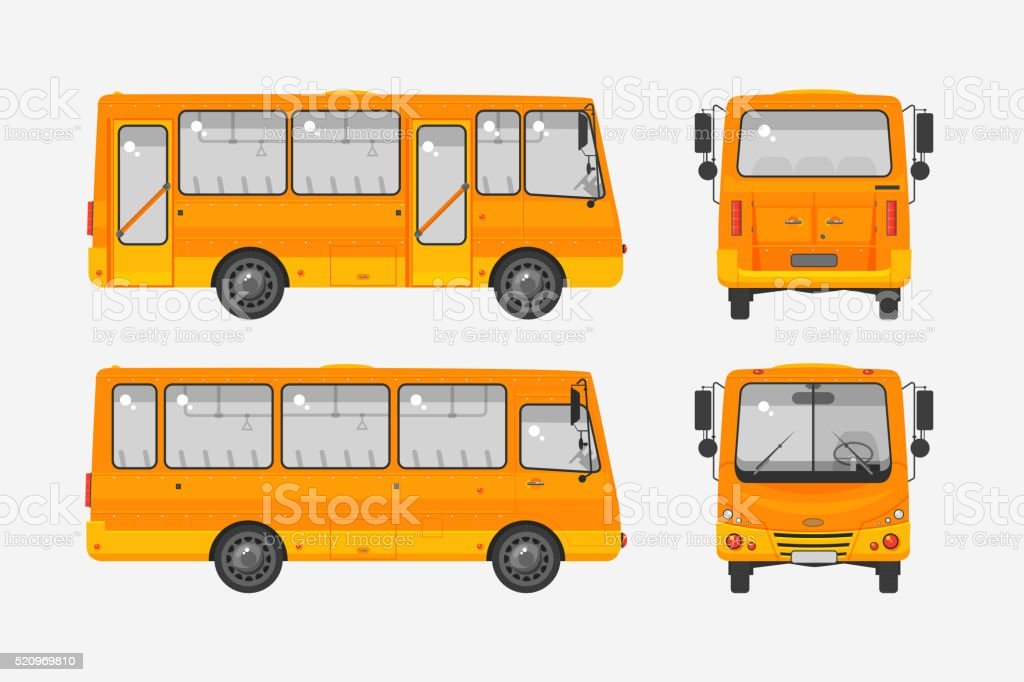 Autobus photo 1 vector art illustration
