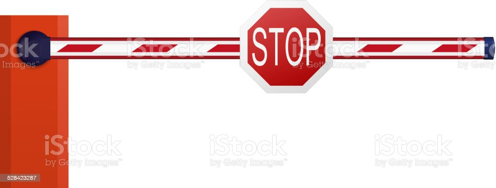 Automatic barrier on white background vector art illustration