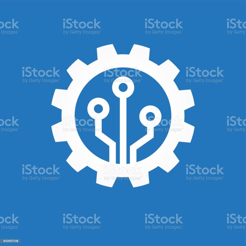 Automatic process icon vector art illustration
