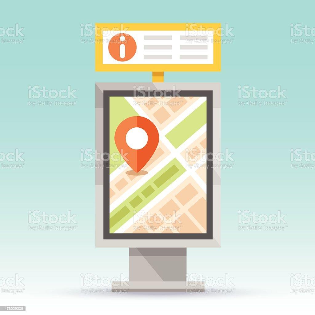 Automatic terminal information service vector art illustration