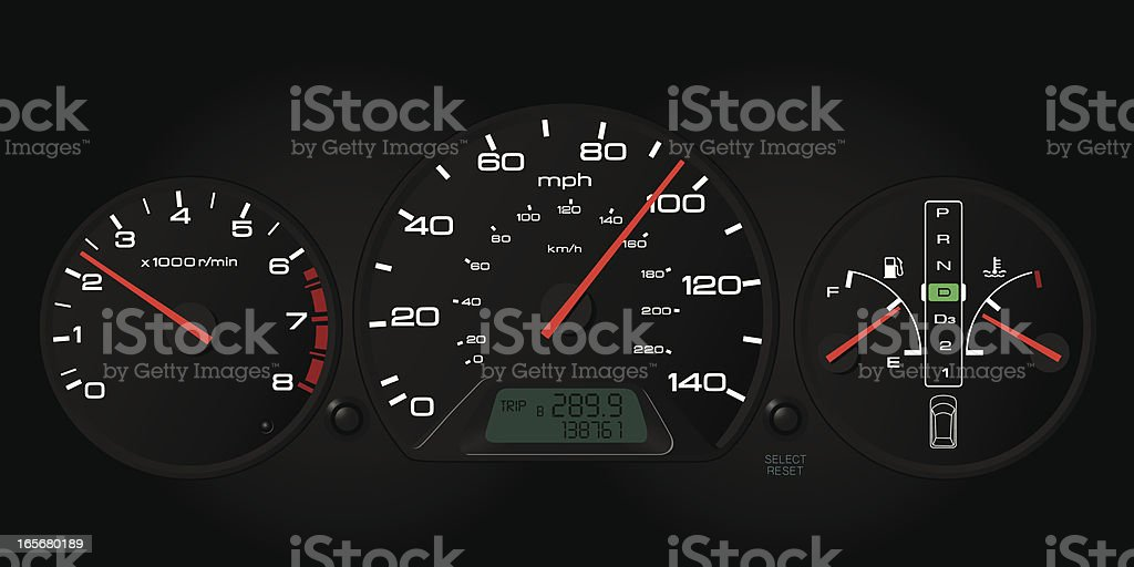Automobile Dashboard royalty-free stock vector art