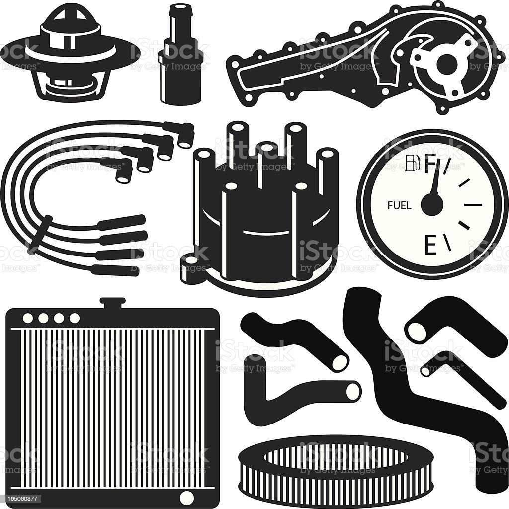 Automobile Parts royalty-free stock vector art