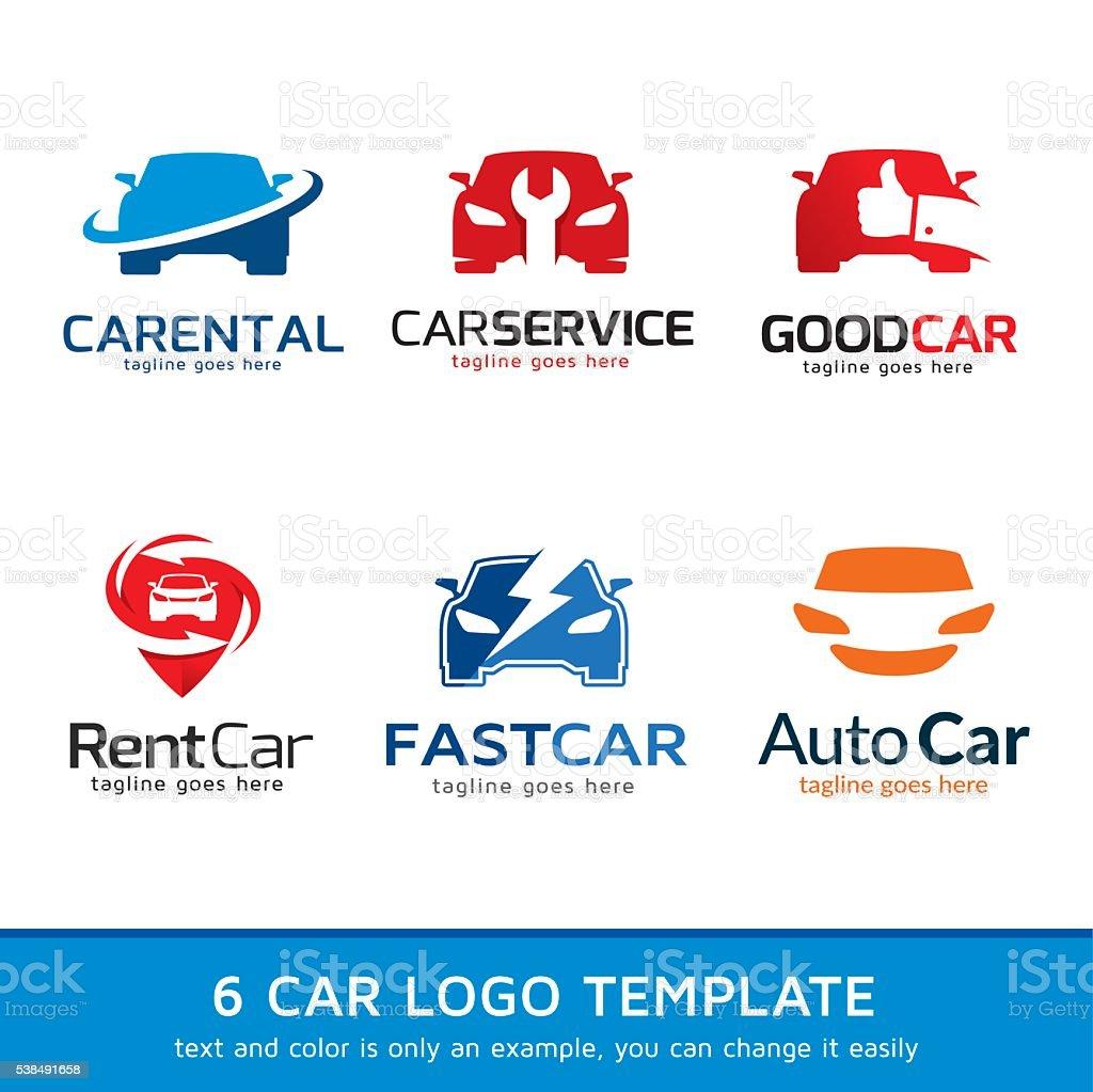 Automotive Car Logo Template Design Vector vector art illustration