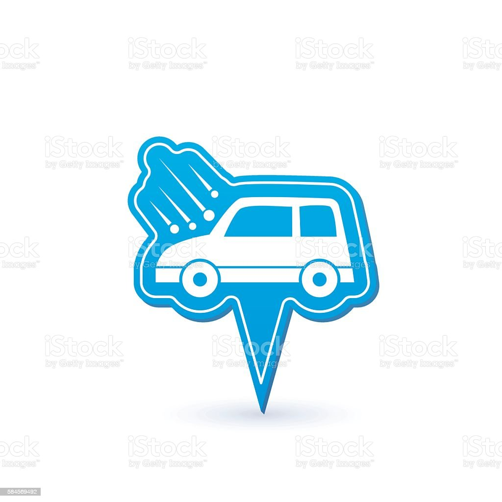 Automotive Insurance Pointer Icon vector art illustration