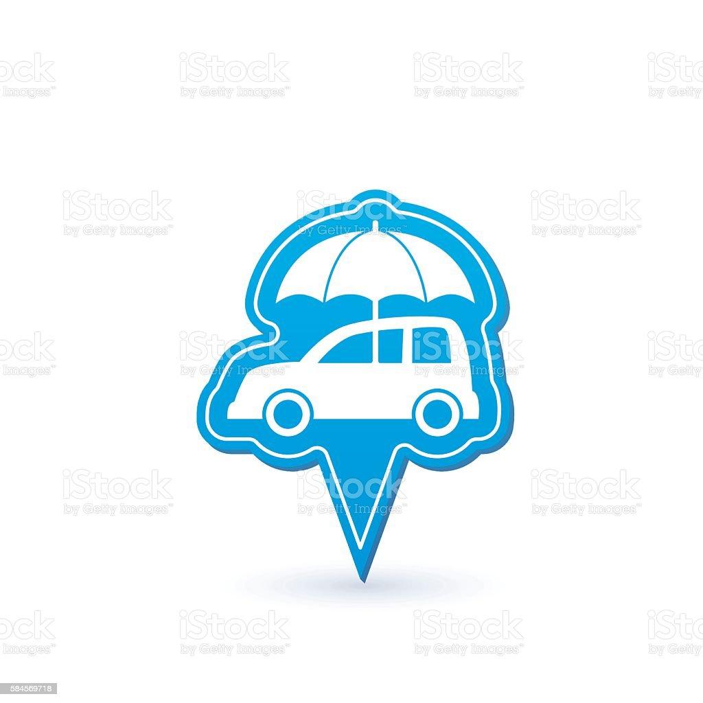 Automotive Insurance Pointer Icon vector art illustration