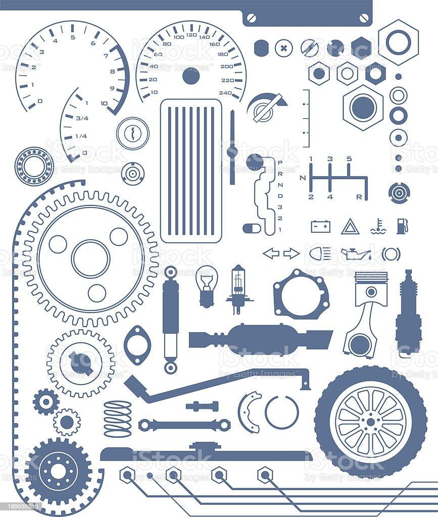 automotive shapes vector art illustration