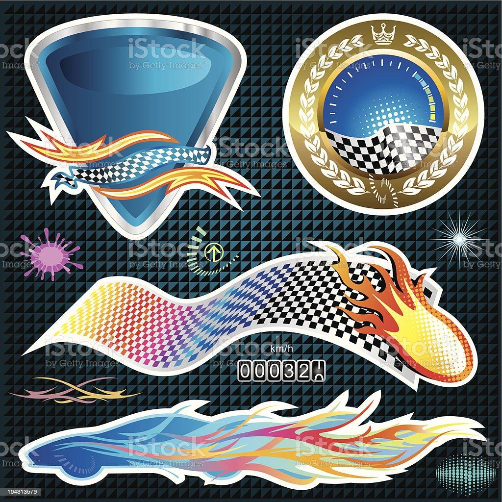 Automotive Sticker royalty-free stock vector art