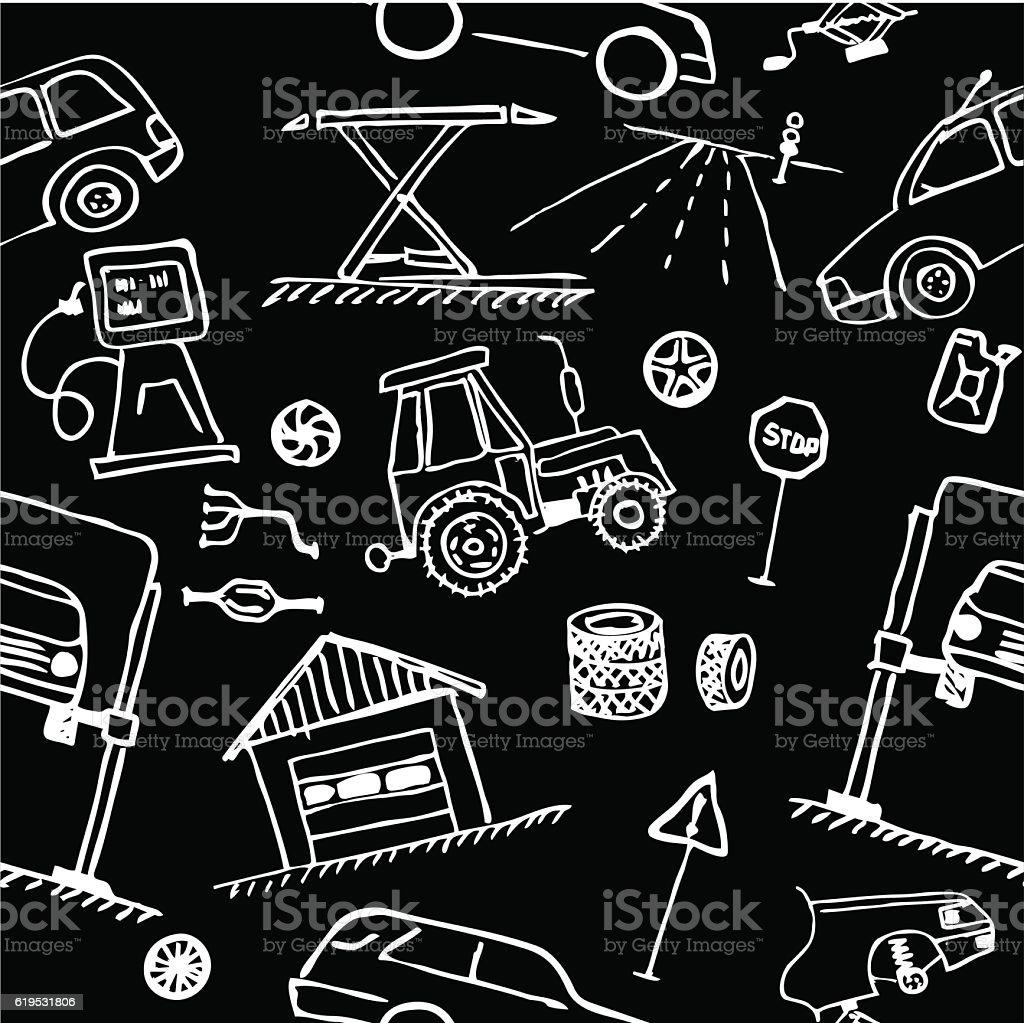 Design car repair workshop - Auto Repair Shop Garage Workshop Backgrounds Black Color