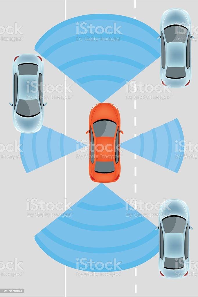 Autonomous Car vector art illustration