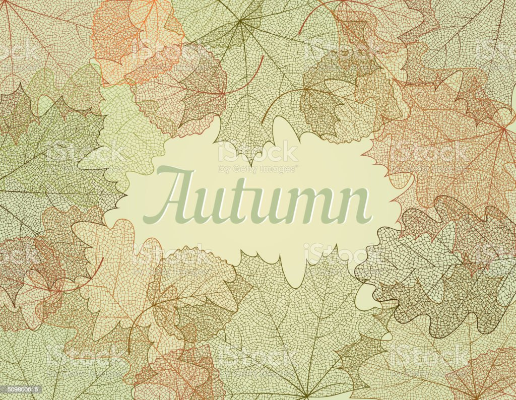 Autumn abstract background. vector art illustration