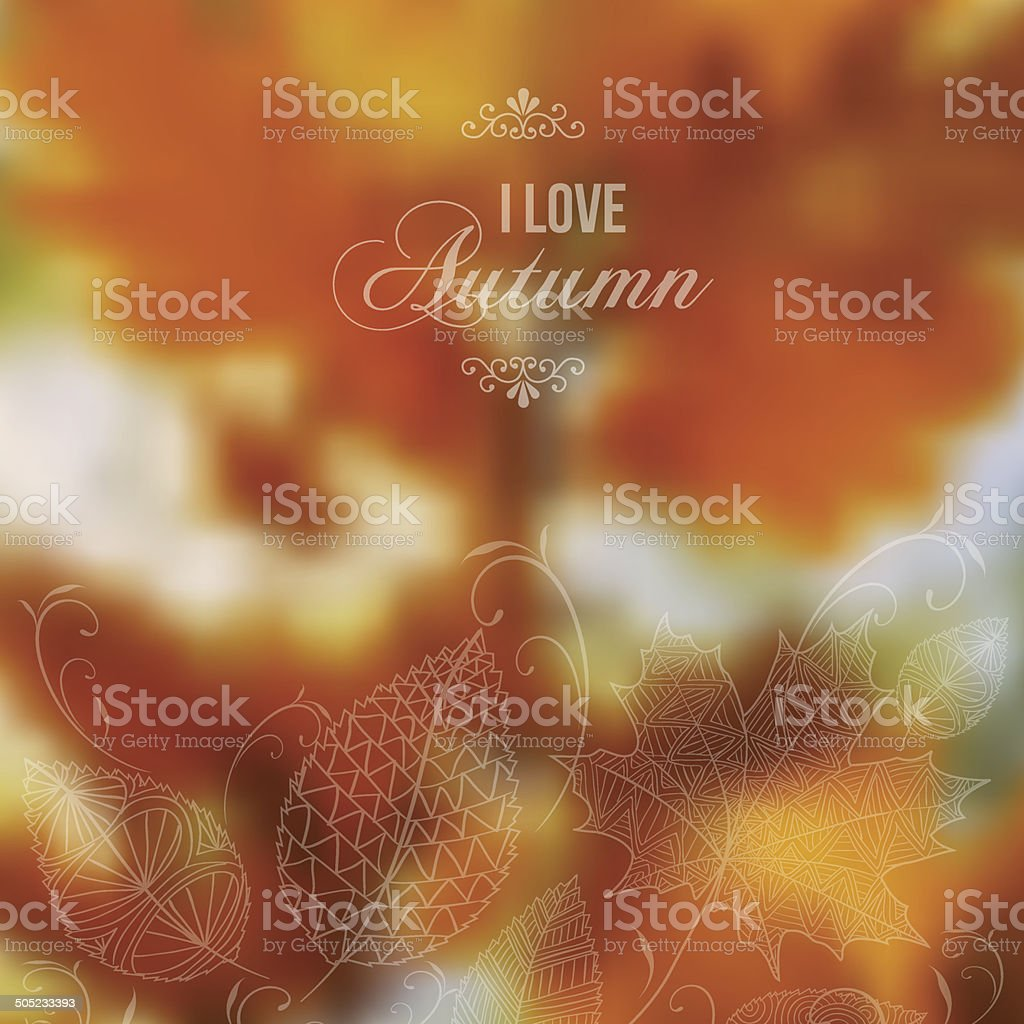 Autumn abstract blurred vector background vector art illustration