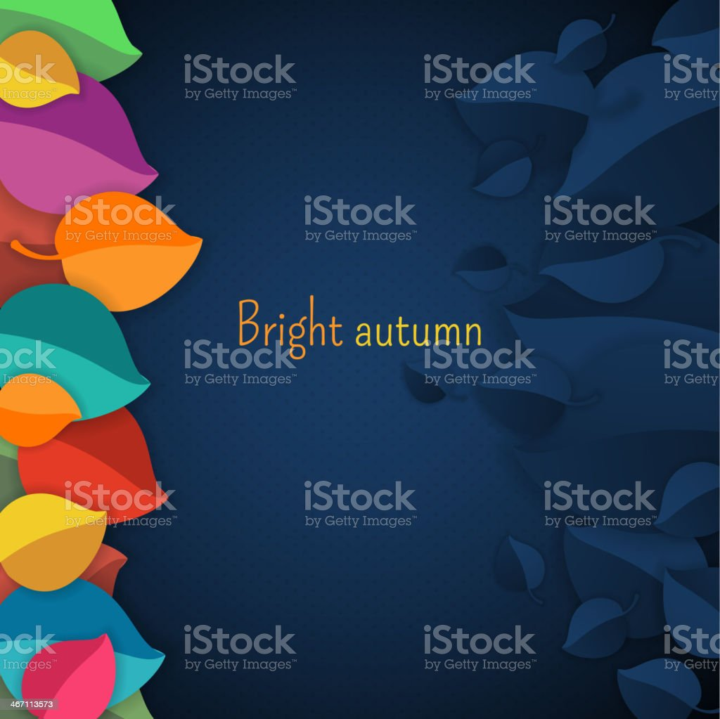Autumn abstract vector background. royalty-free stock vector art
