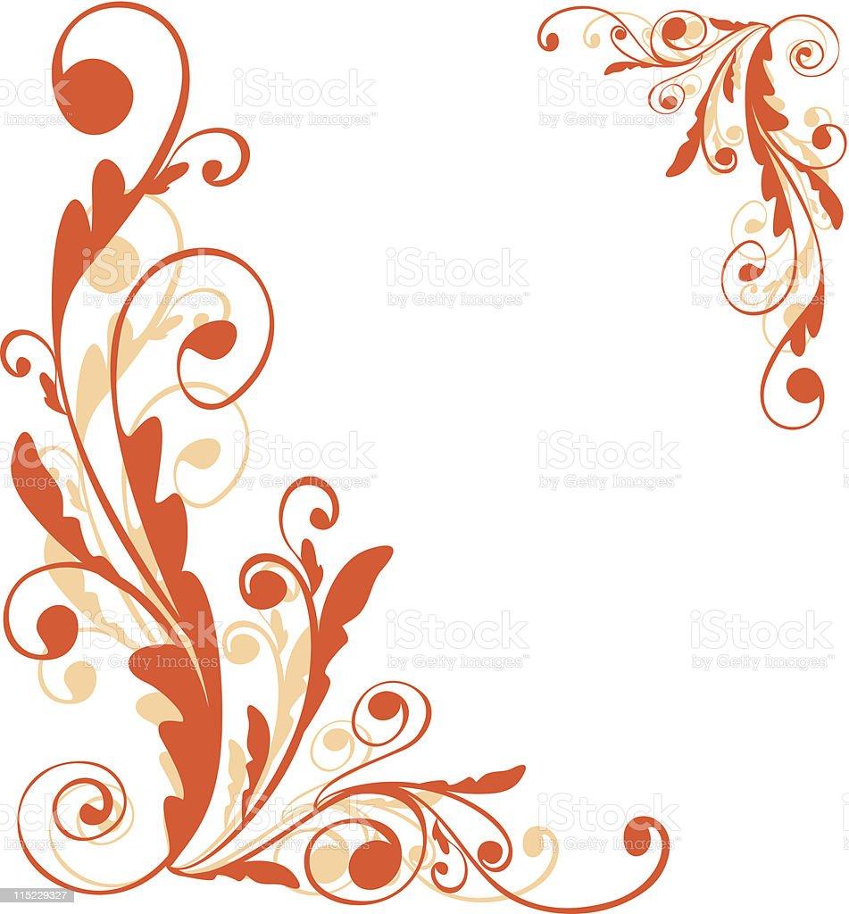 Autumn background vector art illustration