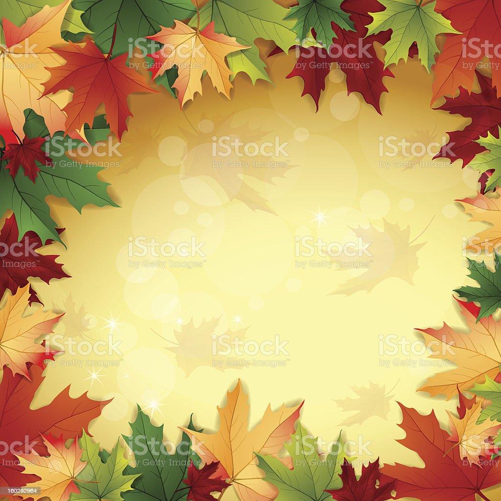 Autumn background royalty-free stock vector art