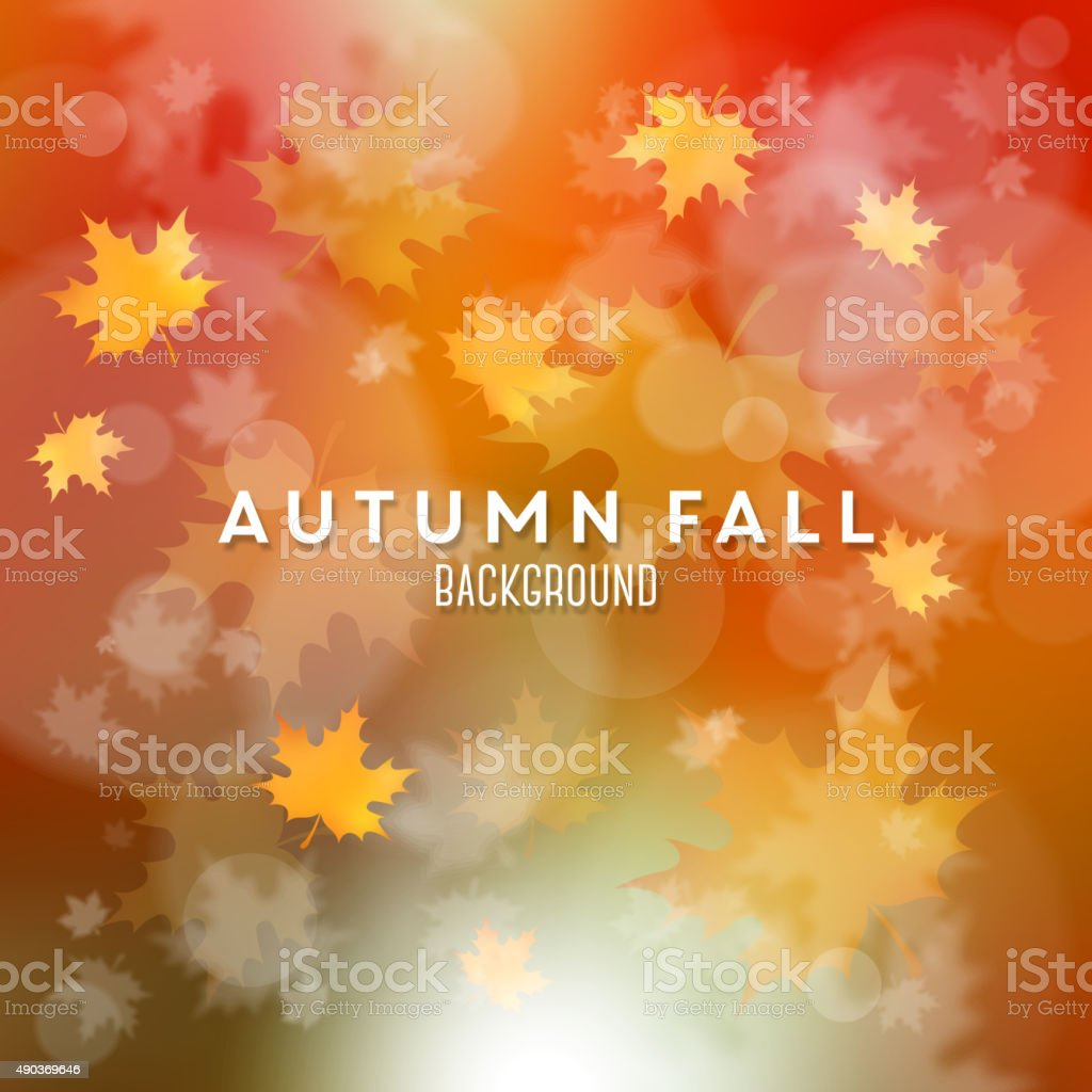 Autumn background vector art illustration
