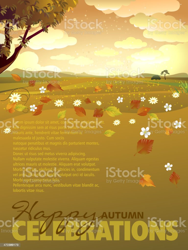 Autumn Background with Copy Space royalty-free stock vector art