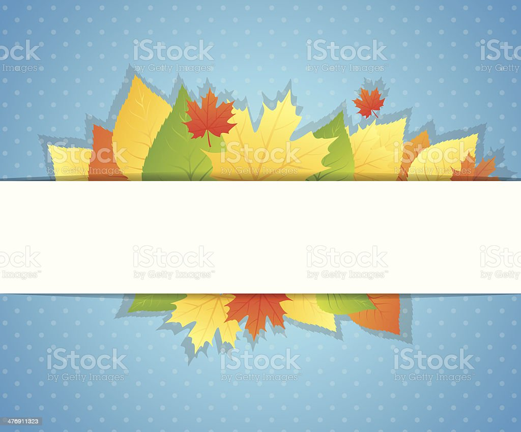 Autumn background with leafs royalty-free stock vector art