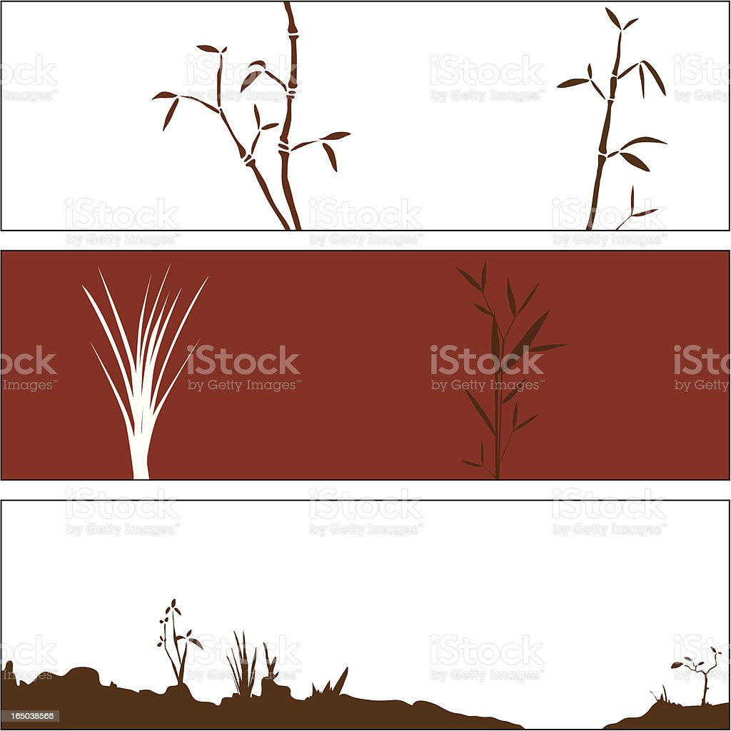 Autumn Bamboo Elements royalty-free stock vector art